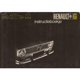 Renault 6 Instructieboekje   Benzine Fabrikant 69 ongebruikt   Nederlands