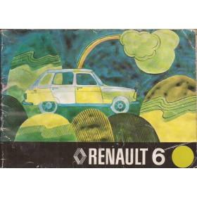 Renault 6 Instructieboekje   Benzine Fabrikant 75 met gebruikssporen lichte vochtschade  Nederlands
