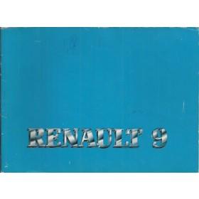 Renault 9 Instructieboekje   Benzine Fabrikant 82 met gebruikssporen   Nederlands