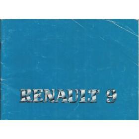 Renault 9 Instructieboekje   Benzine Fabrikant 83 met gebruikssporen   Nederlands