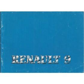 Renault 9 Instructieboekje   Benzine Fabrikant 84 ongebruikt   Nederlands
