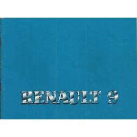 Renault 9 Instructieboekje   Benzine Fabrikant 87 ongebruikt   Nederlands