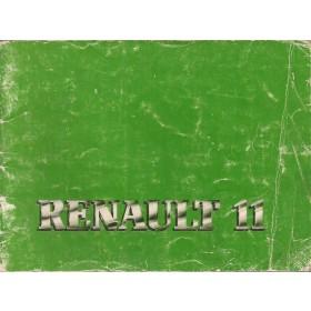 Renault 11 Instructieboekje   Benzine Fabrikant 83 met gebruikssporen   Nederlands
