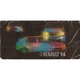 Renault 14 Instructieboekje   Benzine Fabrikant 78 met gebruikssporen   Nederlands