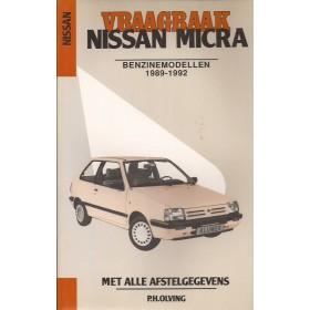 Nissan Micra Vraagbaak P. Olving  Benzine Kluwer 1989-1992 nieuw ISBN 90-201-2657-1 Nederlands 1989 1990 1991 1992