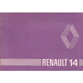 Renault 14 Instructieboekje   Benzine Fabrikant 80 ongebruikt   Nederlands