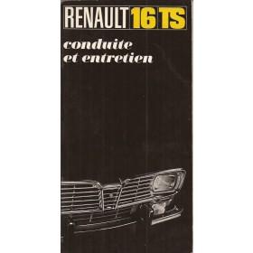 Renault 16 Instructieboekje   Benzine Fabrikant 69 ongebruikt   Frans