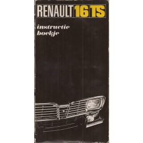 Renault 16 Instructieboekje   Benzine Fabrikant 69 met gebruikssporen   Nederlands