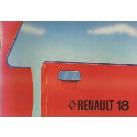 Renault 18 Instructieboekje   Benzine Fabrikant 79 ongebruikt   Engels