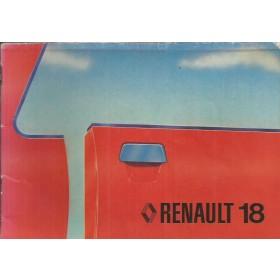 Renault 18 Instructieboekje   Benzine Fabrikant 79 met gebruikssporen   Nederlands
