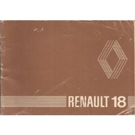 Renault 18 Instructieboekje   Benzine Fabrikant 80 met gebruikssporen   Nederlands