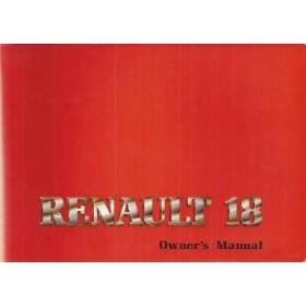 Renault 18 Instructieboekje   Benzine Fabrikant 81 ongebruikt USA-editie  Engels