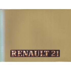 Renault 21 Instructieboekje   Benzine/Diesel Fabrikant 86 ongebruikt   Nederlands