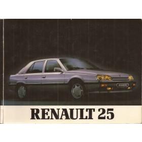 Renault 25 Instructieboekje   Benzine Fabrikant 89 met gebruikssporen   Nederlands
