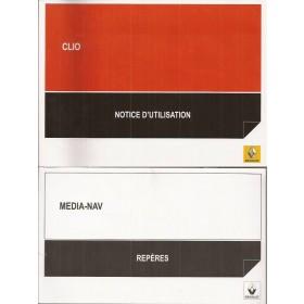 Renault Clio Instructieboekje   Benzine/Diesel Fabrikant 14 ongebruikt met Media-NAV supplement  Frans