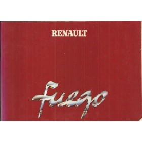 Renault Fuego Instructieboekje   Benzine Fabrikant 81 ongebruikt   Engels