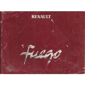 Renault Fuego Instructieboekje   Benzine Fabrikant 84 met gebruikssporen   Nederlands