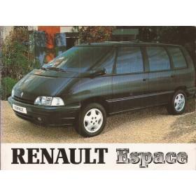 Renault Espace Instructieboekje   Benzine/Diesel Fabrikant 96 ongebruikt   Nederlands