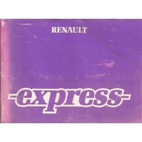 Renault Express Instructieboekje   Benzine/Diesel Fabrikant 86 met gebruikssporen   Frans