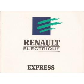 Renault Express Electrique Instructieboekje   Elektrisch Fabrikant 96 met gebruikssporen   Nederlands
