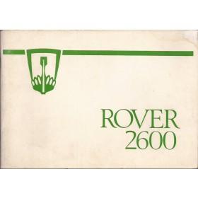 Rover 2600 Instructieboekje   Benzine Fabrikant 78 met gebruikssporen   Engels