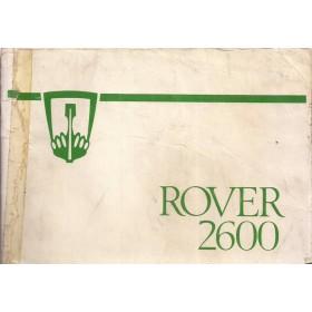 Rover 2600 Instructieboekje   Benzine Fabrikant 78 met gebruikssporen lichte vochtschade  Engels