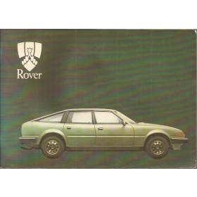 Rover 2000/2300/2600 Instructieboekje   Benzine Fabrikant 82 met gebruikssporen lichte vochtschade  Engels