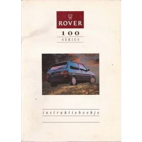 Rover 100-series Instructieboekje   Benzine Fabrikant 90 met gebruikssporen   Nederlands