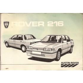 Rover 216 Instructieboekje   Benzine Fabrikant 85 met gebruikssporen   Nederlands