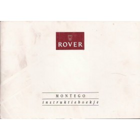 Rover Montego Instructieboekje   Benzine Fabrikant 92 met gebruikssporen   Nederlands