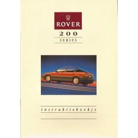 Rover 200-series Instructieboekje   Benzine Fabrikant 89 met gebruikssporen   Nederlands