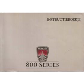 Rover 800-series Instructieboekje   Benzine Fabrikant 87 met gebruikssporen   Nederlands
