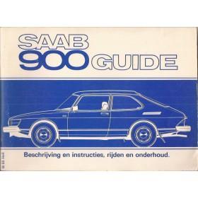 Saab 900 Instructieboekje   Benzine Fabrikant 80 met gebruikssporen   Nederlands