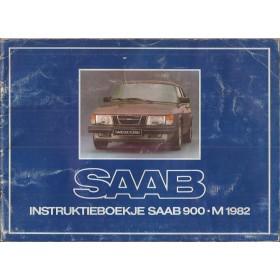 Saab 900 Instructieboekje   Benzine Fabrikant 82 met gebruikssporen   Nederlands