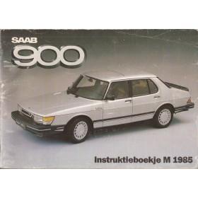 Saab 900 Instructieboekje   Benzine Fabrikant 85 met gebruikssporen   Nederlands
