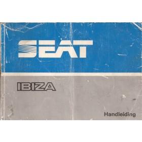 Seat Ibiza Instructieboekje   Benzine/Diesel Fabrikant 86 met gebruikssporen vouw in kaft  Nederlands