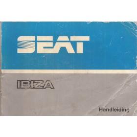 Seat Ibiza Instructieboekje   Benzine/Diesel Fabrikant 89 met gebruikssporen   Nederlands