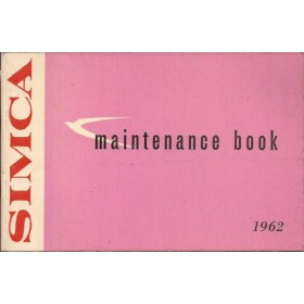 Simca Etoile/Monaco/Chatelaine/Ranch/Plein Ciel/Oceane Instructieboekje   Benzine Fabrikant 62 ongebruikt   Engels