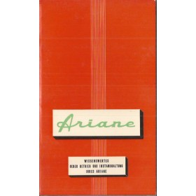 Simca Ariane Instructieboekje   Benzine Fabrikant 60 ongebruikt   Duits