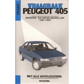 Peugeot 405 Vraagbaak P. Olyslager  Benzine/Diesel Kluwer 87-92 nieuw   Nederlands