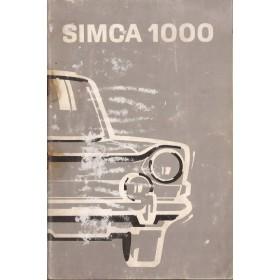Simca 1000 Instructieboekje   Benzine Fabrikant 71 met gebruikssporen   Nederlands