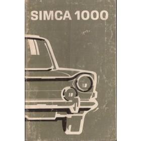 Simca 1000 Instructieboekje   Benzine Fabrikant 75 met gebruikssporen   Nederlands