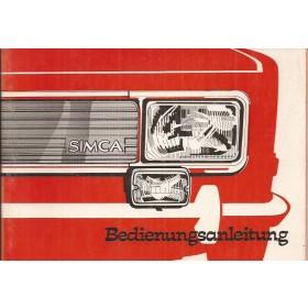 Simca 1000 Instructieboekje   Benzine Fabrikant 77 ongebruikt   Duits