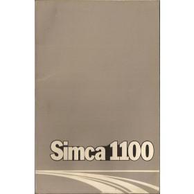 Simca 1100 Instructieboekje   Benzine Fabrikant 75 met gebruikssporen   Nederlands