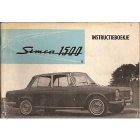Simca 1500 Instructieboekje   Benzine Fabrikant 65 met gebruikssporen   Nederlands
