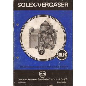 Solex 30-34 / 31-34 Instructieboekje   Benzine Fabrikant 75 met gebruikssporen   Duits