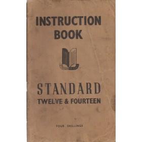 Standard 12/14 Instructieboekje   Benzine Fabrikant 46 met gebruikssporen   Engels