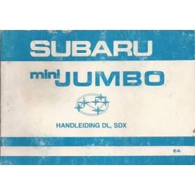 Subaru Mini Jumbo Instructieboekje   Benzine Fabrikant 82 met gebruikssporen   Nederlands