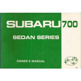 Subaru 700 Jumbo Instructieboekje   Benzine Fabrikant 84 ongebruikt   Engels