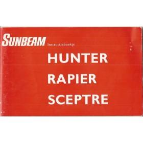 Sunbeam Hunter/Rapier/Sceptre Instructieboekje   Benzine Fabrikant 67 ongebruikt   Nederlands